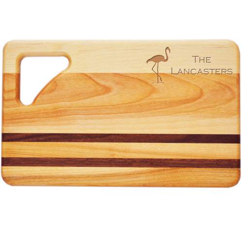"Small Integrity Cutting Board 10"" X 6"" - Personalized Flamingo"