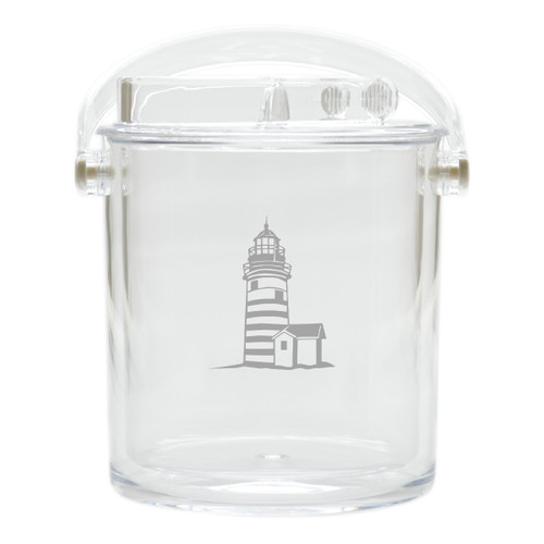 Insulated Ice Bucket with Tongs - Lighthouse
