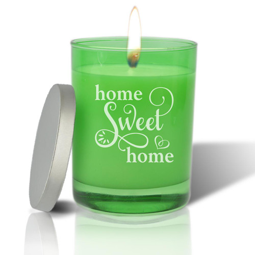 Emerald Soy Glass Candle - Home Sweet Home