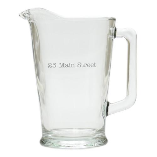 PERSONALIZED ADDRESS PITCHER  (GLASS)