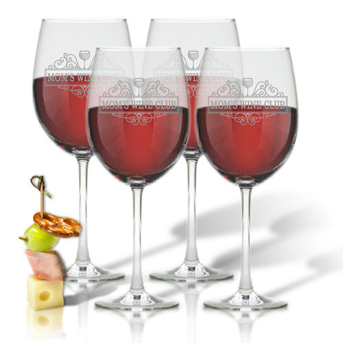 SET OF 4 WINE STEM - (GLASS) - MOM'S WINE CLUB