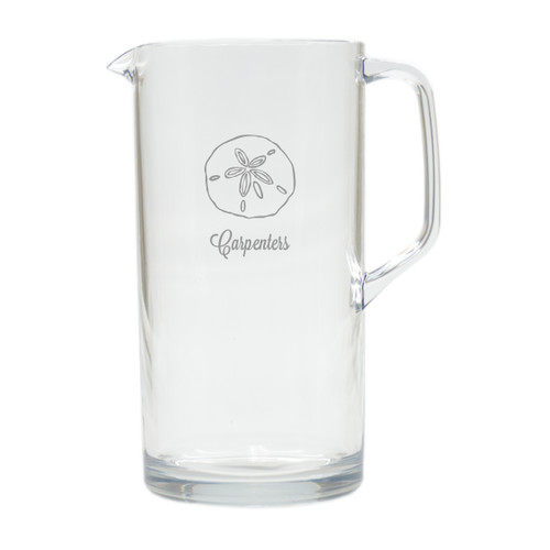 PERSONALIZED SAND DOLLAR PITCHER  (Unbreakable)