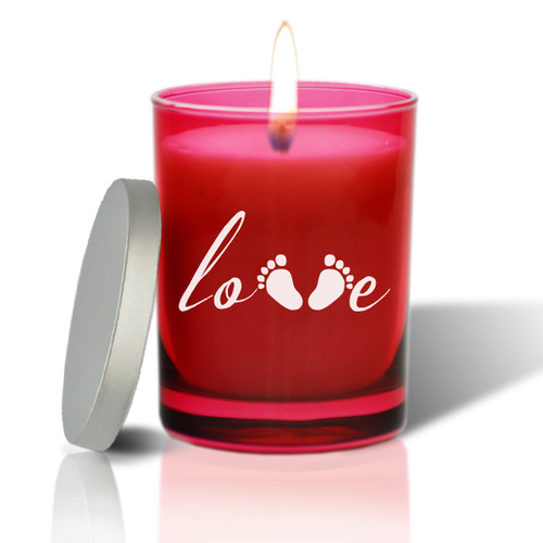 Ruby Soy Glass Candle - Love Footprint