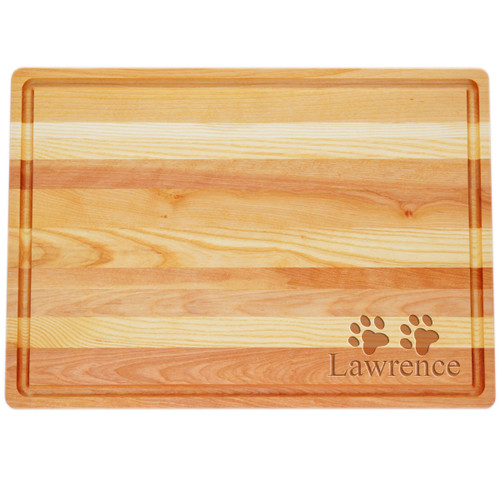 """Large Master Cutting Board 20"""" X 14.5"""" - Personalized Paws"""