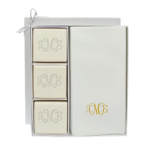 Eco-Luxury Courtesy Gift Set - Gold Monogram