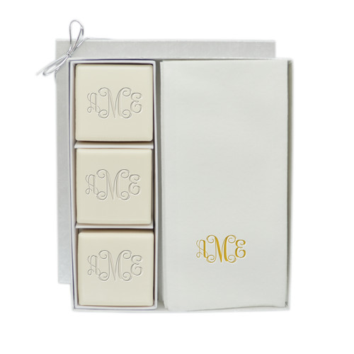 Eco-Luxury Courtesy Gift Set - Gold Monogram