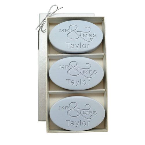 Signature spa trio lavender personalized mr mrs for Mr and mrs spa