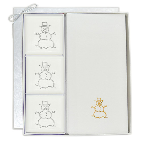 Signature Spa Courtesy Gift Set - Gold Snowman