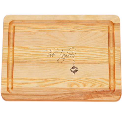 "Small Master Cutting Board 10"" X 7.5"" - Personalized Ornament"