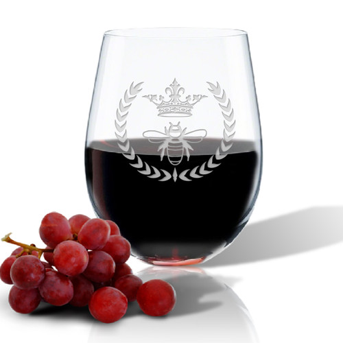 SINGLE Wine Tumbler - (GLASS) - QUEEN BEE