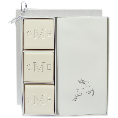 Eco-Luxury Courtsey Gift Set - Monogram and Silver Deer