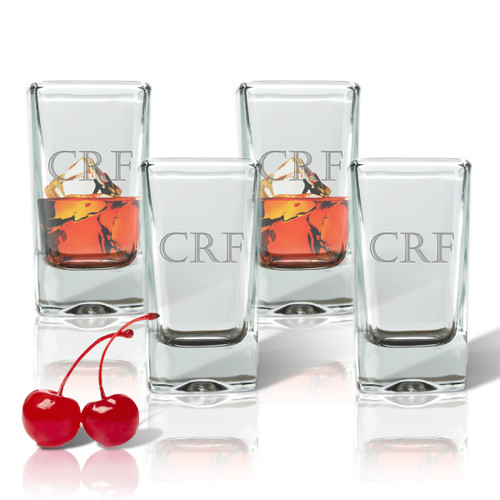 Personalized Shot/Dessert Glass (Set of 4)( Standard Carving Options)