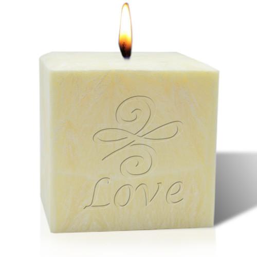 "4"" Pure Aromatherapy Palm Wax Candle - Love Knot"