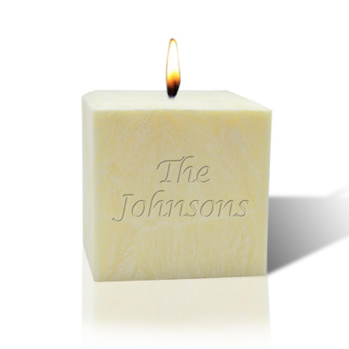 "3"" Unscented Palm Wax Candle - Name or Phrase"