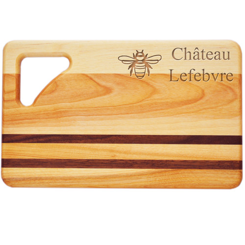 "Small Integrity Cutting Board 10"" X 6"" - Personalized Bee"
