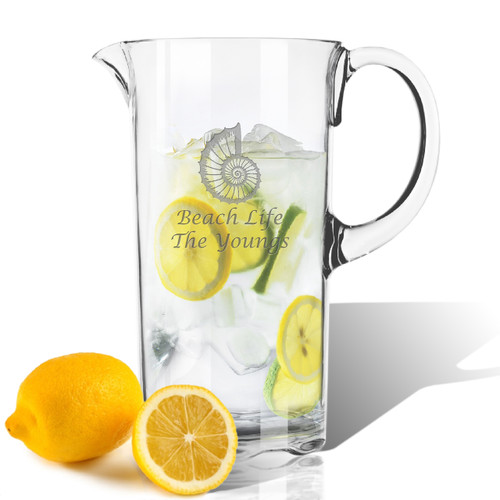PERSONALIZED SPIRAL SHELLPITCHER  (Unbreakable)