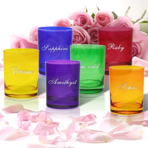 GEM COLLECTION GLASSWARE (set of 4)Standard Carving Options)