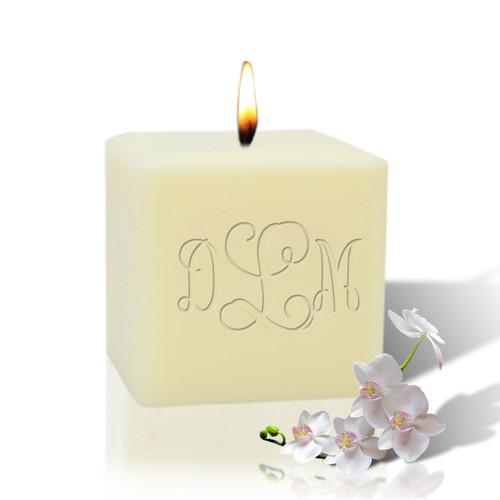 "3"" Soy Pillar Candle - Monogram"