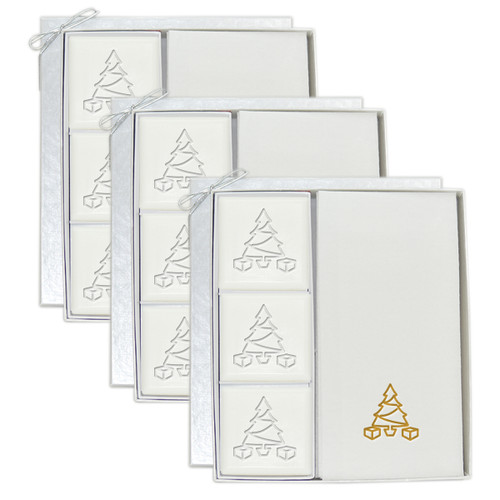 Signature Spa Courtesy Gift Set - Gold Christmas Tree (Set of 3)