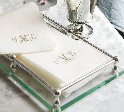 25 Linen-Like Disposable Guest Towels - Personalized