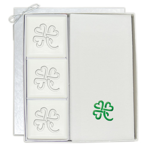 Signature Spa Courtesy Gift Set - Personalized with Heart Clover