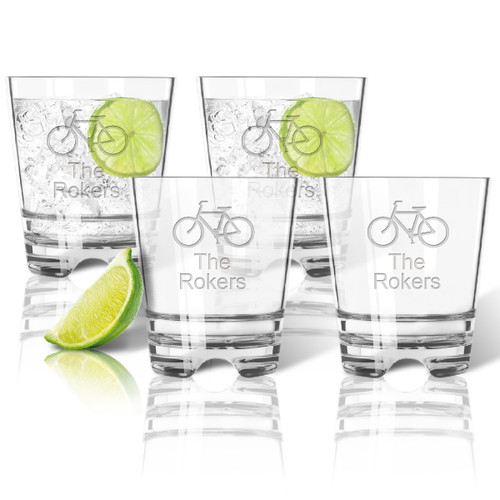 Tritan Double Old Fashioned Glasses 12oz (Set of 4) : Bike