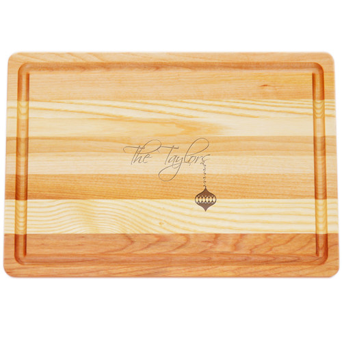 "Medium Master Cutting Boards 14.5"" X 10"" - Personalized Ornament"