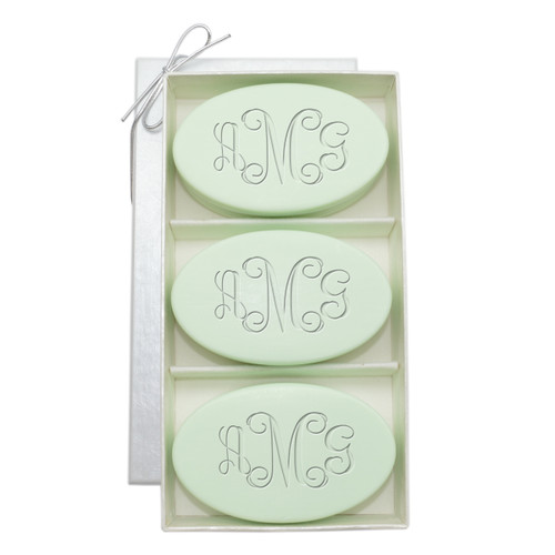 Signature Spa Trio - Green Tea & Bergamot: Vine Monogram