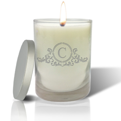 Soy Glass Candle - Elegant Initial