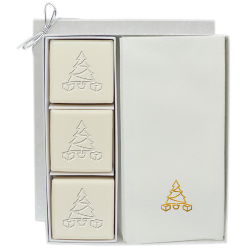Eco-Luxury Courtesy Gift Set - Gold Christmas Tree