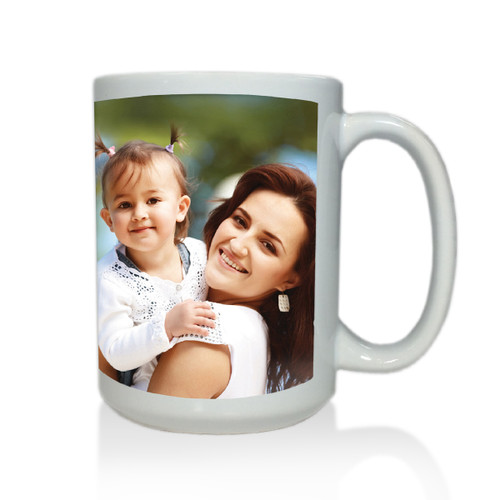 Personalized White Mug  15 oz.Photo