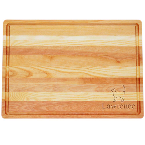 "Large Master Cutting Board 20"" X 14.5"" - Personalized Cat"