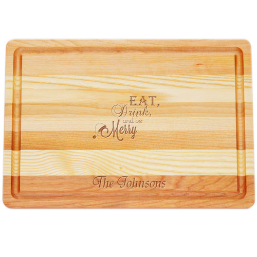 "Medium Master Cutting Boards 14.5"" X 10"" - Personalized Eat, Drink, Be Merry"