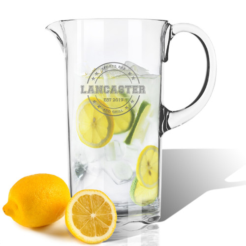 PERSONALIZED PITCHER  (Unbreakable)- Sports Bar and Grill