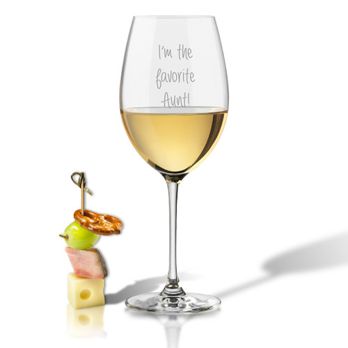 SINGLE WINE STEM – (GLASS) - I'M THE FAVORITE AUNT