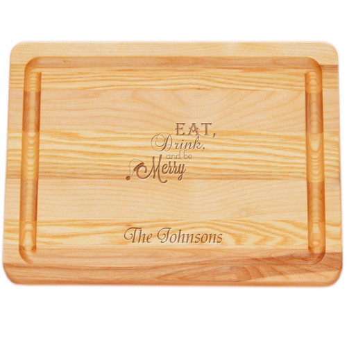 "Small Master Cutting Board 10"" X 7.5"" - Personalized Eat, Drink, Be Merry"