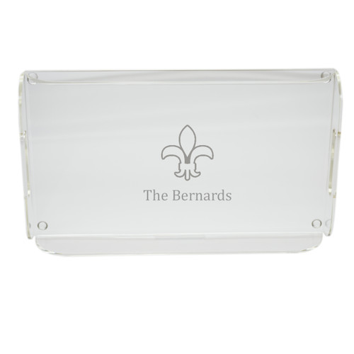 Personalized Acrylic Serving Tray - Fleur De Lis