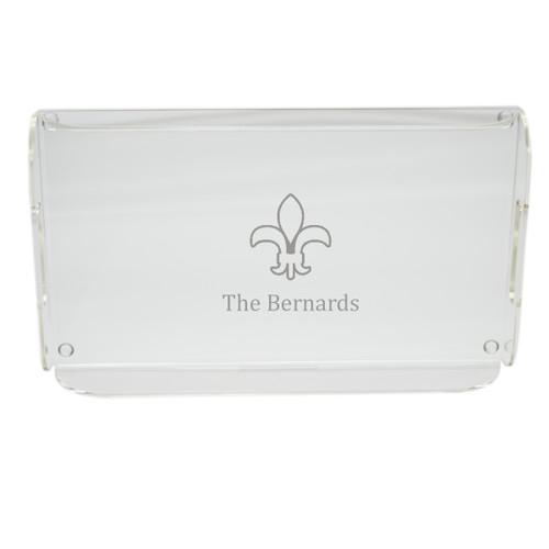 Personalized Acrylic Serving Tray - Fleur De Lis