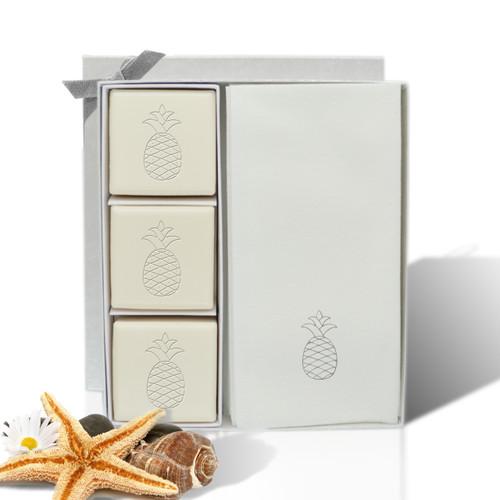 Eco-Luxury Courtesy Gift Set - Silver Pineapple