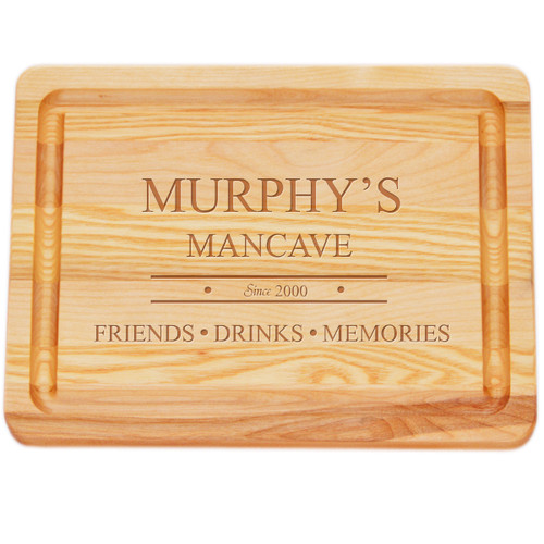 "Small Master Cutting Board 10"" X 7.5"" - Personalized Mancave"