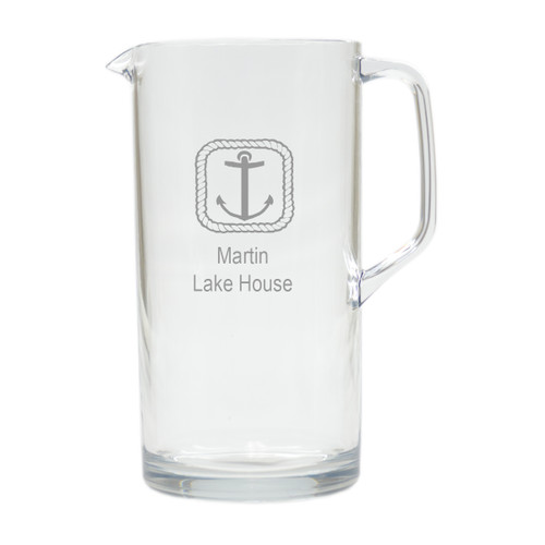 PERSONALIZED ROPE ANCHOR PITCHER  (Unbreakable)