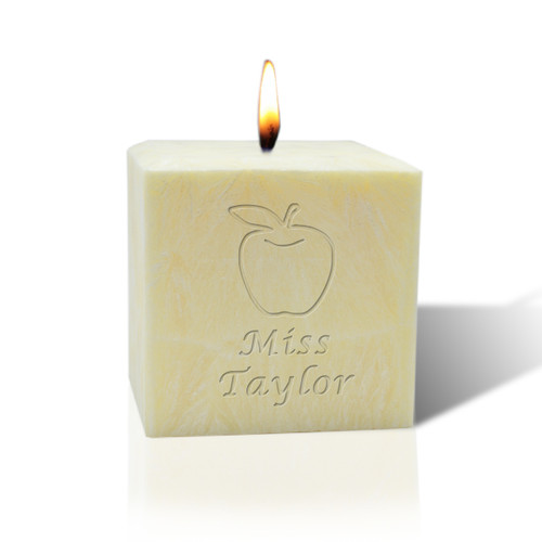 """3"""" Pure Aromatherapy Palm Wax Candle - Apple for Teacher"""