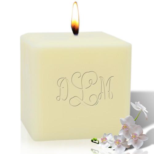 "4"" Soy Pillar Candle - Vine Monogram"