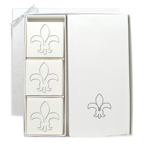 Signature Spa Courtesy Gift Set - Silver Fleur De Lis
