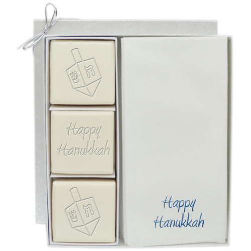 Eco-Luxury Courtsey Gift Set - Blue or Silver Dreidel Mix
