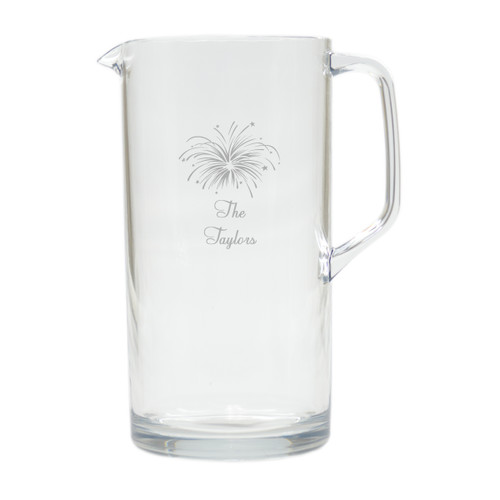 PERSONALIZED FIREWORKS PITCHER  (Unbreakable)