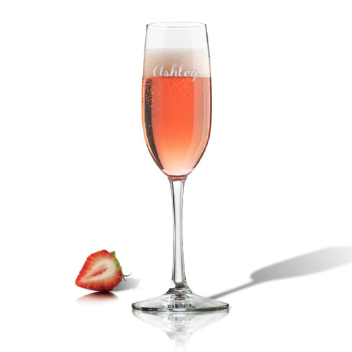 PERSONALIZED CHAMPAGNE FLUTE SINGLE (GLASS)