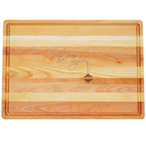"Large Master Cutting Board 20"" X 14.5"" - Personalized Ornament"