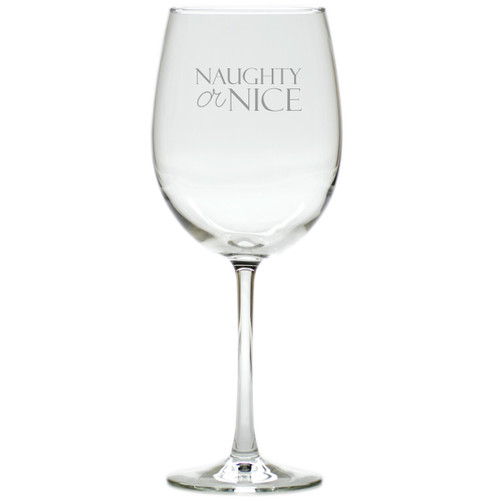 NAUGHTY OR NICE WINE STEMWARE - SET OF 4 (GLASS)