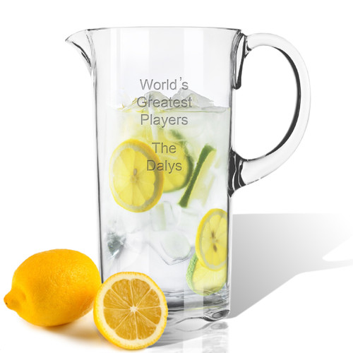 Personalized Tritan Pitcher 55 oz Sports Variety  with name